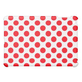 Red Polka Dots on White - iPad Mini Case