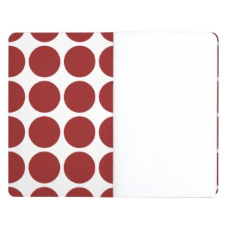 Red Polka Dots on White Journal