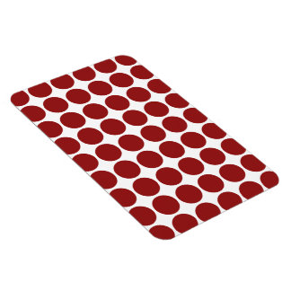 Red Polka Dots on White Magnet