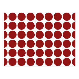 Red Polka Dots on White Postcard