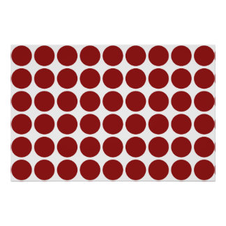 Red Polka Dots on White Poster