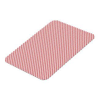 Red Polka Dots on White Magnet