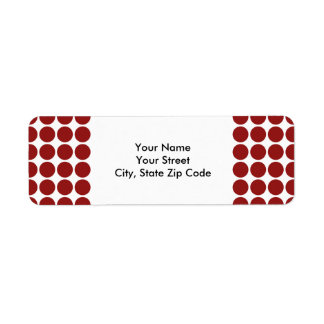 Red Polka Dots on White return address label