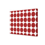 Red Polka Dots on White Stretched Canvas Prints