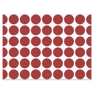 Red Polka Dots on White Tissue Paper