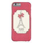 Red Polka Dots Paris Je t'aime iPhone 6 Case