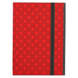 Red polka dots pattern iPad covers