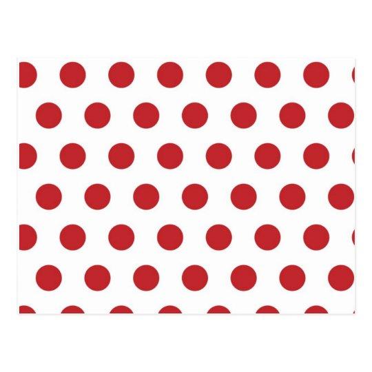 Red polka dots postcard