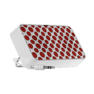 Red Polka Dots Travel Speakers