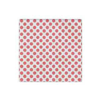 Red Polka Dots Stone Magnet