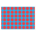 Red Polka Dots Turquoise Tissue Paper