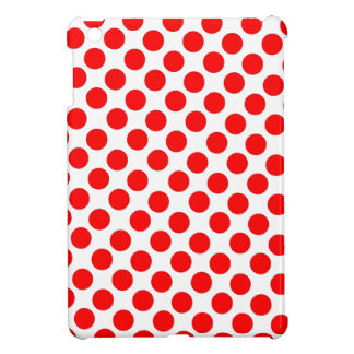 Red Polka Dots with white background Ipad Case