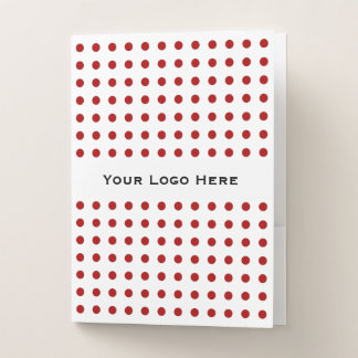 Red Polka Dots with Your Logo Here/Message Folder