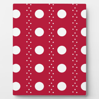 Red Polkadot Stripes Plaque
