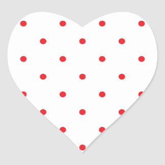 Red Polkadots Small Heart Sticker