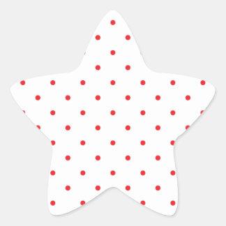Red Polkadots Small Star Sticker