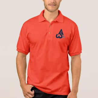"Red Polo Shirt-""ALPHA-OMEGA"" DJ 5-0 Logo (Blue)"