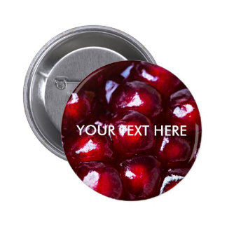 Red Pomegranate Seeds Button