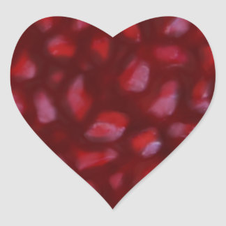 Red Pomegranate seeds drawing Heart Sticker