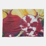 Red Pomegranates Kitchen Towel
