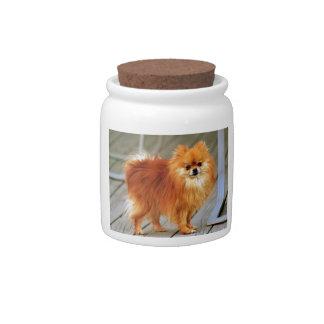 Red Pomeranian Candy Dish