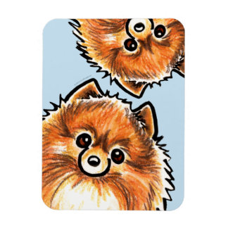 Red Pomeranian Paws Up Magnet
