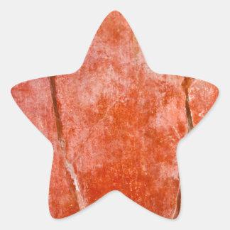 Red Pompeii Star Stickers