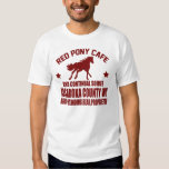 RED PONY CAFE  AND CONTINUAL SOIREE SHIRT