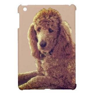 RED POODLE AT REST iPad MINI CASES