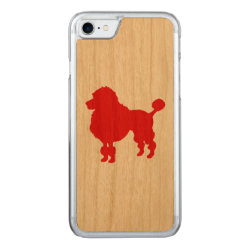 Red poodle dog silhouette carved iPhone 8/7 case