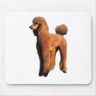 red poodle mouse pad