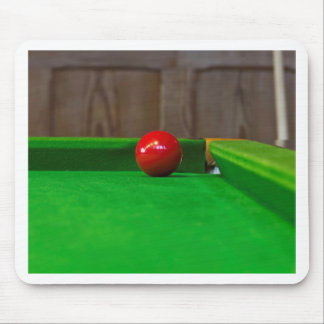 Red pool ball on a pool table mousepads