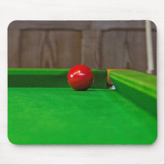 Red pool ball on pool table mouse pads