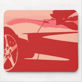 Red Pop Art Corvette Mouse Pad