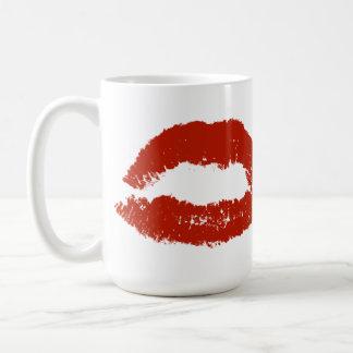 Red Pop Art Lips Coffee Mug