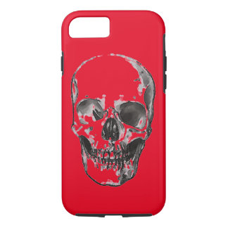 Red Pop Art Skull iPhone 7 Case