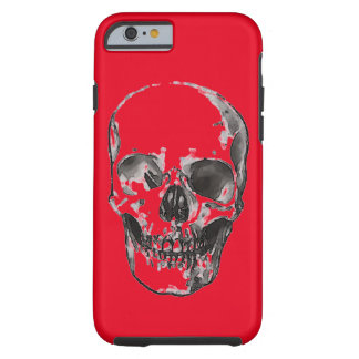 Red Pop Art Skull Tough iPhone 6 Case