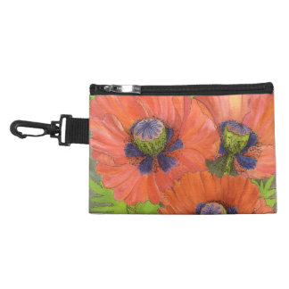 Red Poppies Accessory Bag