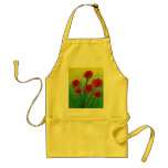 Red Poppies Adult Apron