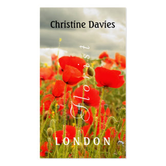 Red poppies and the sky photograhy, florist business card templates