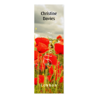 Red poppies and the sky photograhy, florist, business cards