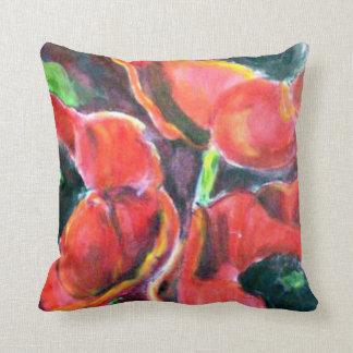 Red Poppies artwork Throw Pillows