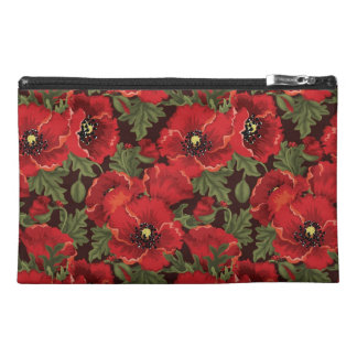 Red Poppies Bagettes Bag Travel Accessory Bags