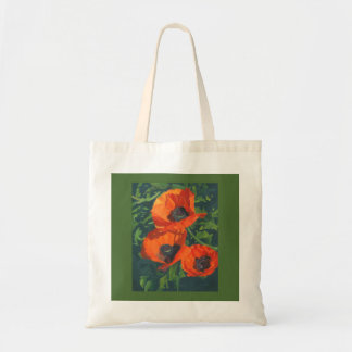 Red Poppies Budget Tote Bag