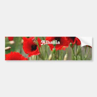 Red Poppies Car Bumper Sticker