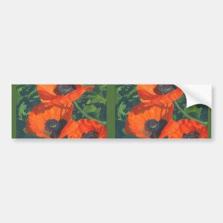 Red Poppies Bumper Sticker
