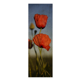 Red Poppies, business card