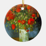 Red Poppies by Vincent van Gogh Christmas Ornament