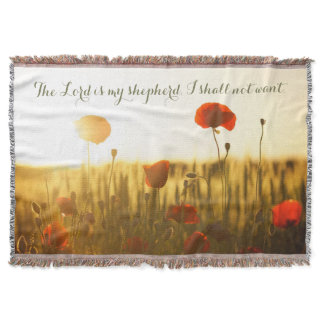 Red Poppies Christian Home Decor Throw Blanket