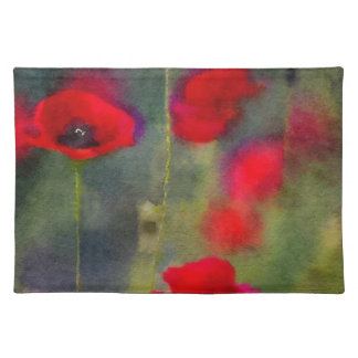 Red Poppies Cloth Placemat
